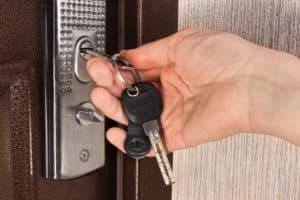 clés de serrure de porte