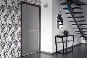 Porte dans un appartement à Lyon ne pouvant plus être ouverte car la personne a perdu les clés